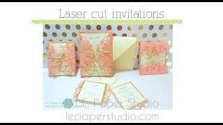 DIY Laser cut invitations Tutorial