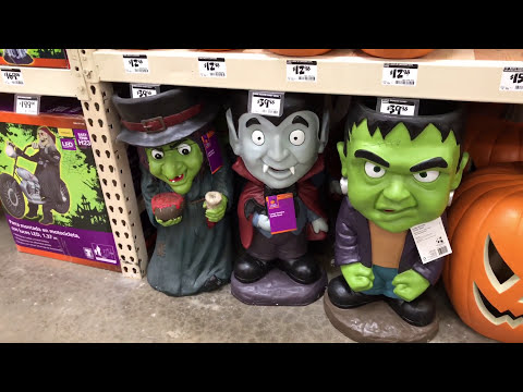 8/19 2017 Halloween Merchandise Sighting:  Home Depot (Awesome stuff this year!)