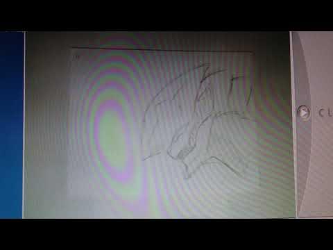 アニメミュージアムで描いたパラパラ漫画