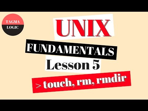 Unix / Linux tutorial - command - learn FAST - fundamentals - touch, rm, rmdir - Tutorial - Lesson 5
