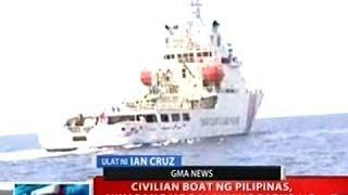 NTVL: Civilian boat ng Pilipinas, hinarang ng dalawang barko ng China Coast Guard sa ayungin Shoal