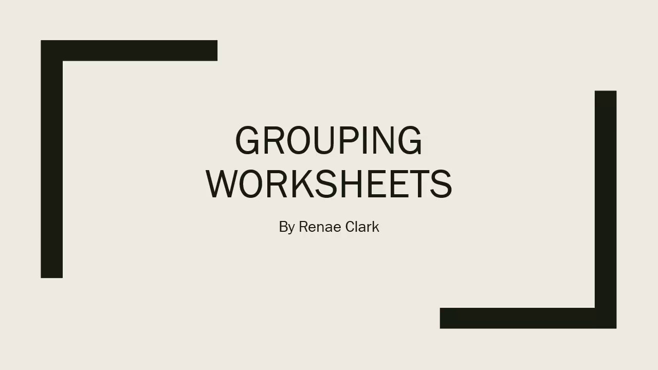 worksheet Grouping Worksheets In Excel grouping worksheets in excel youtube excel