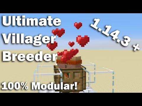 100% Modular Villager Breeder | Minecraft Version 1.14.2+