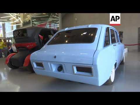 Kalashnikov company presents electric car to rival Tesla, combat robot