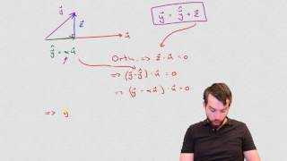 The geometric view on orthogonal projections