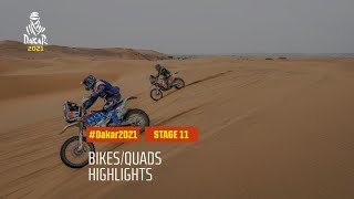 #DAKAR2021 - Stage 11 - AlUla / Yanbu - Bike/Quad Highlights