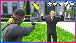 What happens if you rob Mr President?! (GTA 5 Mods - Evade Gameplay)