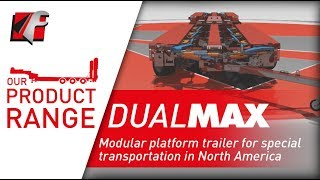 FAYMONVILLE DualMAX - Modular platform trailer for special transportation in North America