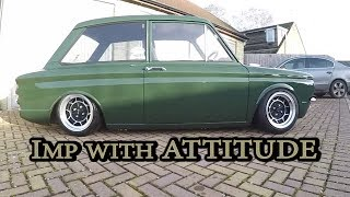 **BIKE POWERED**Hillman Imp with Attitude...