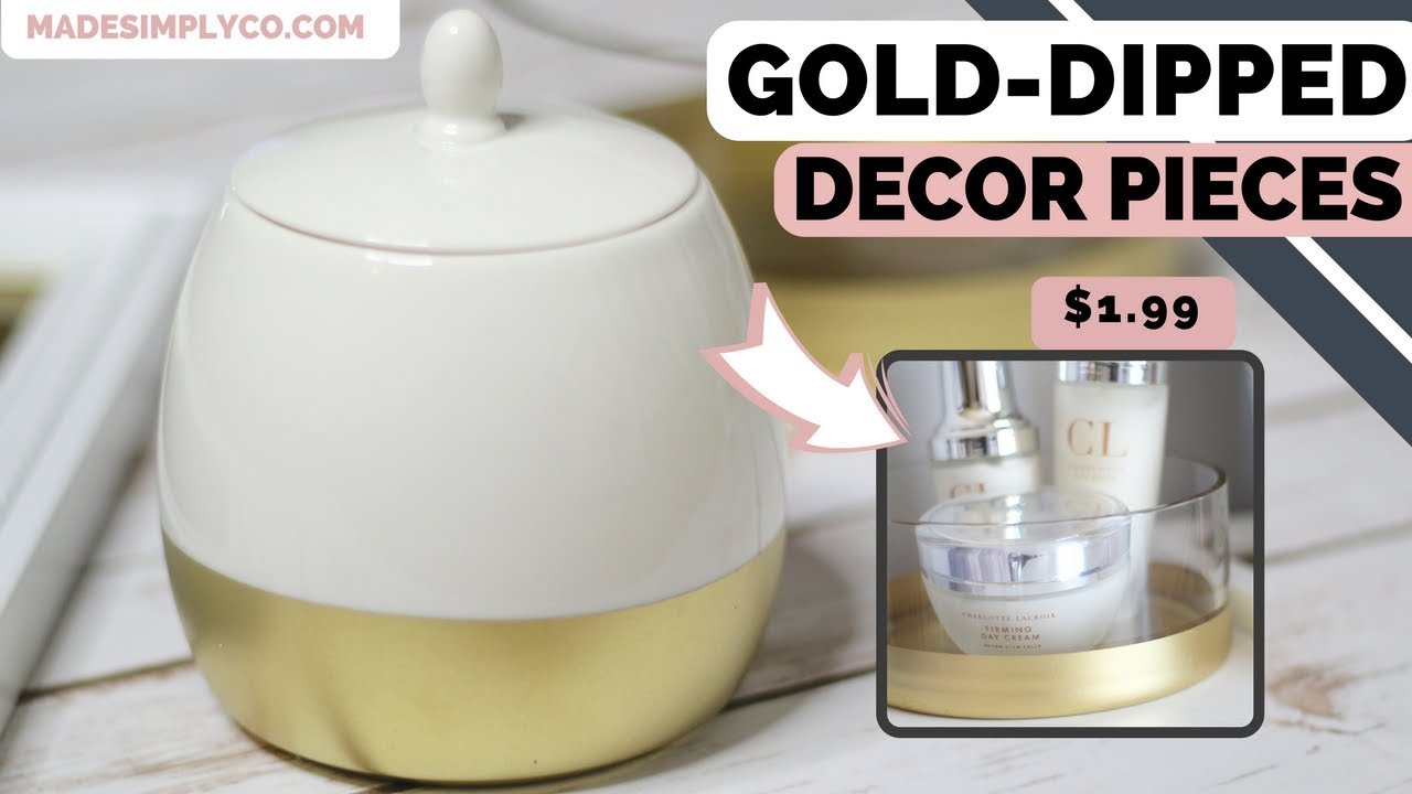 DIY Gold Dipped Home Decor | Easy $2 Thrift Store Flips!