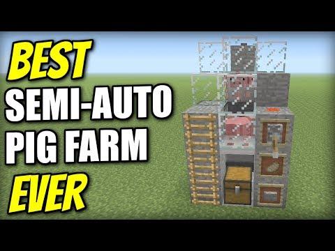 Minecraft PS4 - PIG FARM [ SEMI-AUTO ] [ BEST EVER ] Redstone Tutorial - PE / Xbox / PS3 / Wii U