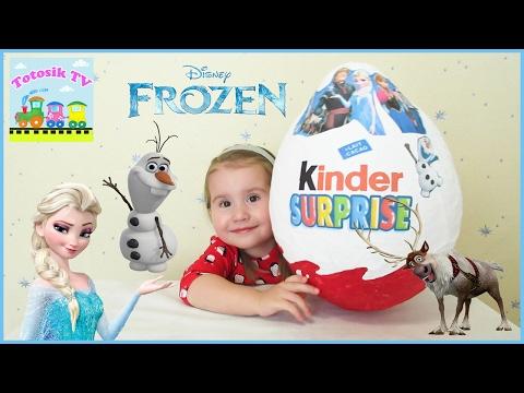 Большое яйцо с сюрпризом Холодное сердце распаковка giant egg Kinder Surprise Frozen with toys