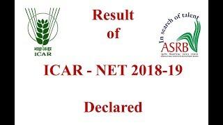 ICAR NET - 2018-19 Result Declared now!!!