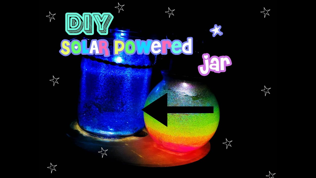 DIY Solar Fairy Light Jar