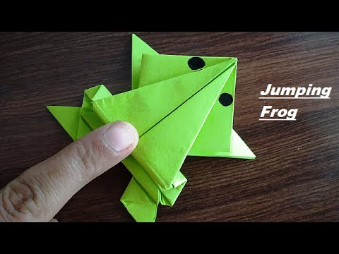 DIY - Jumping Frog Origami | Paper Jumping Frog | Paper Frog Making | PAPER FROG THAT JUMPS