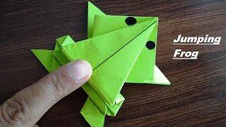 DIY - Jumping Frog Origami | Paper Jumping Frog | Paper Frog Making | PAPER FROG THAT JUMPS