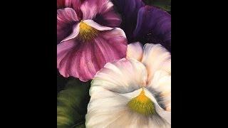 Repeat youtube video Como pintar flores - Pinceladas de  Silvia Mongelos