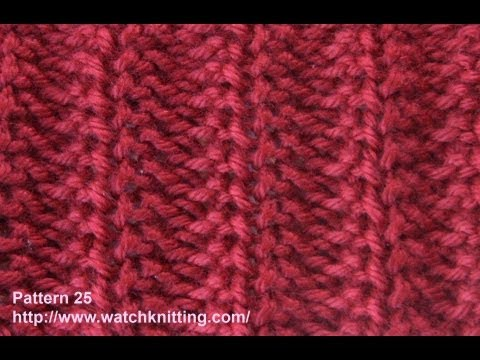 Rib Stitch - Free Knitting Patterns - Watch Knitting - Stitch 25 - YouTube