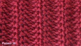 Repeat youtube video Rib Stitch - Free Knitting Patterns - Watch Knitting - Stitch 25