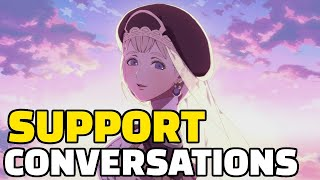 Fire Emblem Three Houses | Byleth And Mercedes All Support Conversations (All Support Cutscenes)