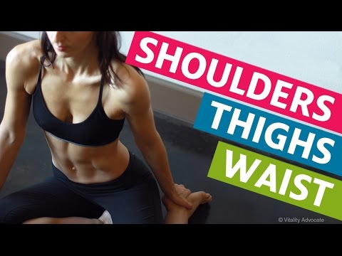 Intense Muscle Toning Home Workout - For Shoulders, Waist and Thighs