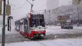 Heavy snowfall in Bratislava - 30-01-2015