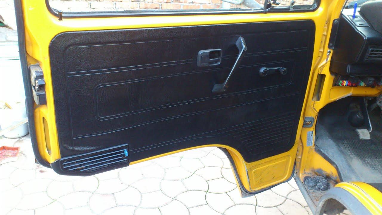 Volkswagen Transporter T3. Снятие и установка дверной панели.