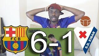 Barcelona VS Eibar 6-1 ● All Goals & Highlights: Reaction