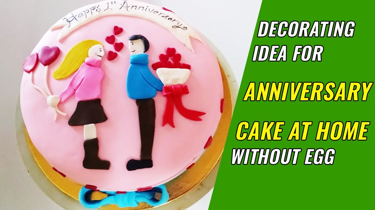 Best Anniversary cake decorating ideas at home - Easy ...