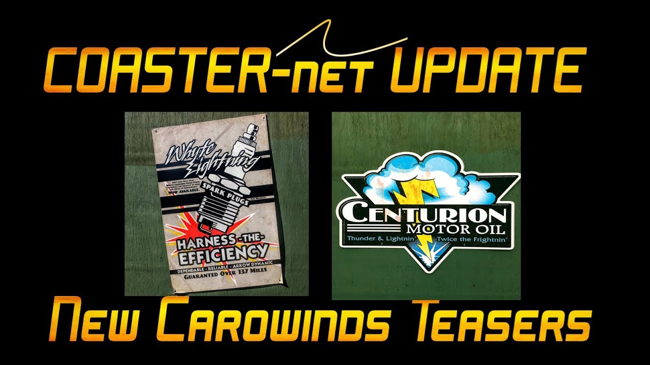 Whyte Lightning & Centurion Carowinds 2019 Teaser Posters Explained -  COASTER-net Update by COASTER-net com