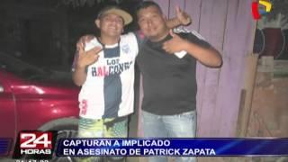 Capturan a implicado en asesinato de Patrick Zapata