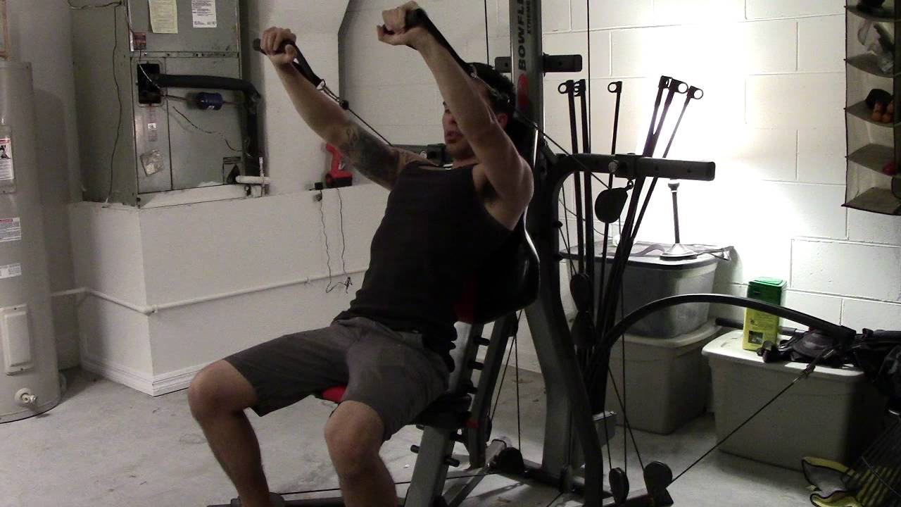 Bowflex Xtreme 2 SE Incline Decline Bench Press How To - YouTube