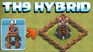 BOMB TOWER TROPHY BASE / HYBRID TH9 BUILD!! (Clash of Clans New Update!!!)