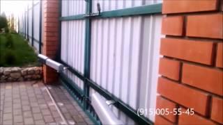видео Как установить распашные ворота?