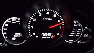 Porsche Panamera Turbo Sport Turismo Launch Control 0-200km/h & Rolling Accelerations!
