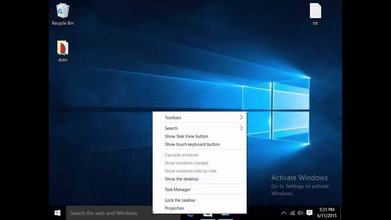 how to add search bar in windows 10