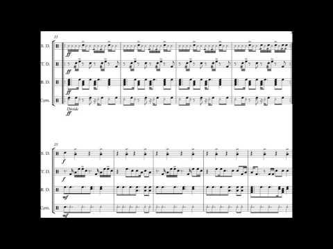lean on major lazer drumline cadence sheet music youtube