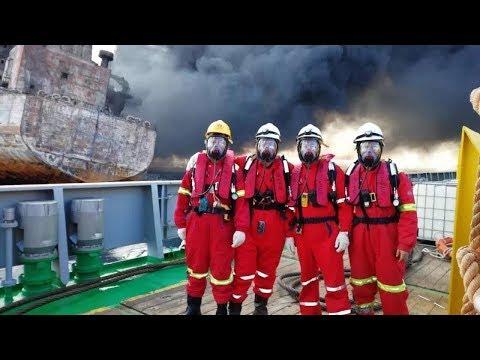 Camera captures heroic rescue on burning oil tanker Sanchi