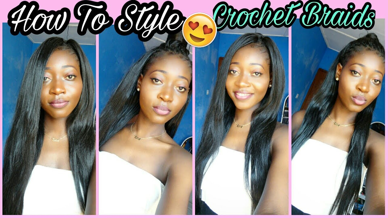 4 Super Easy Straight Crochet Hairstyle Outre Kanekalon Hair Back To School Hairstyle Youtube