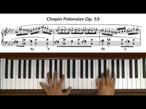 Chopin Polonaise Op. 53 Piano Tutorial Part 2