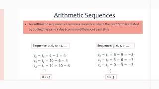 MCR3U/Grade 11 Functions: 7.1 Arithmetic Sequences
