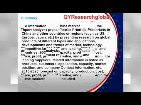 2015 Market Research Report on Global Digital Textile Printing Ink Industry