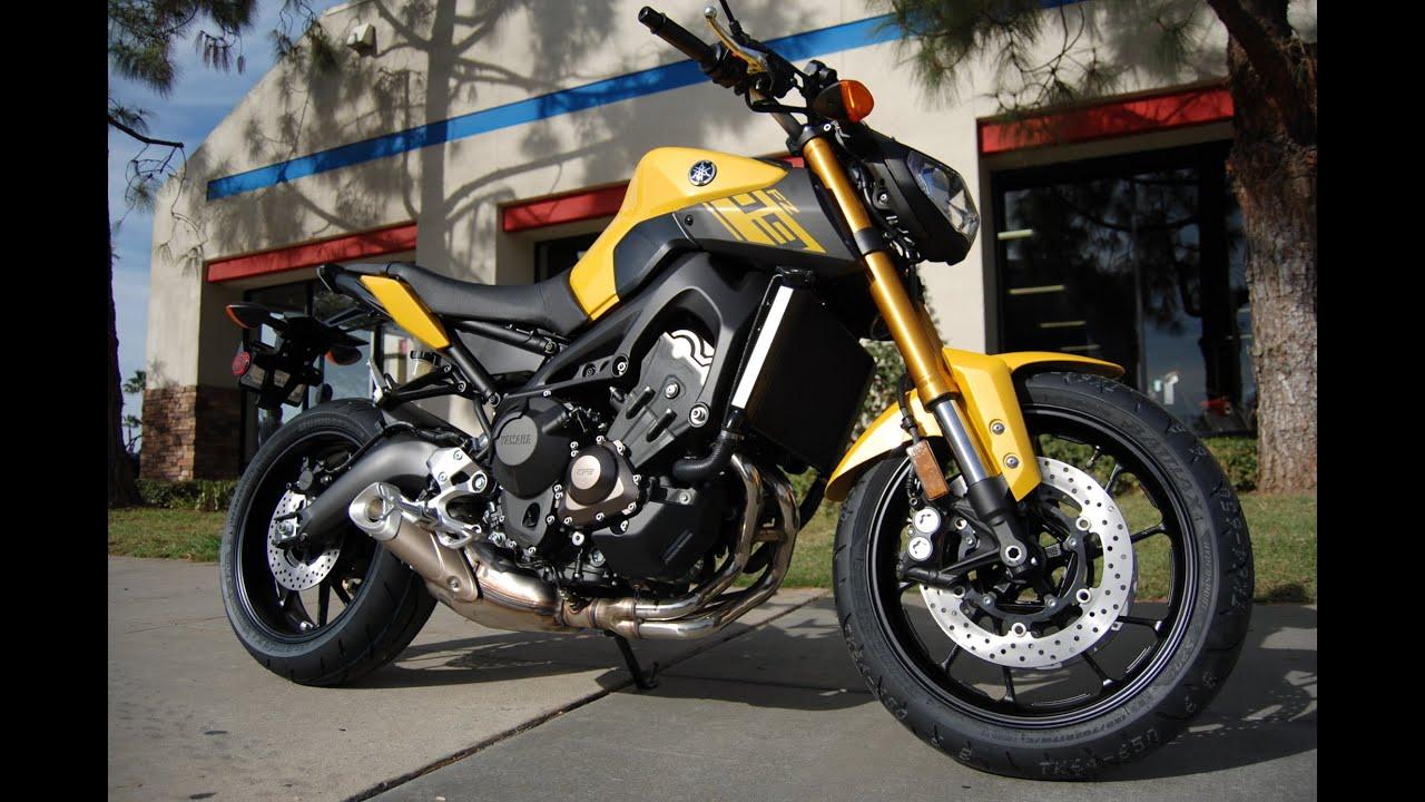 2015 Yamaha Fz 09 Cadmium Yellow Youtube