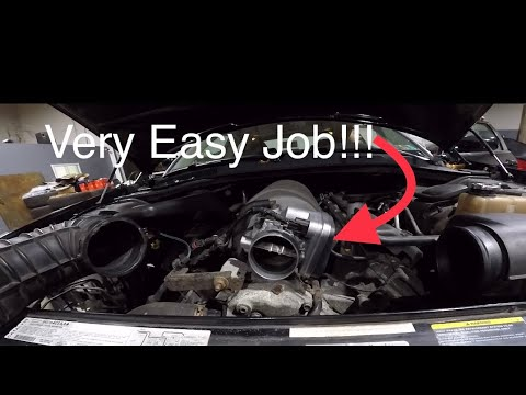 How to replace the throttle body!! 05-11 Chrysler 300 srt8 with throttle re learn