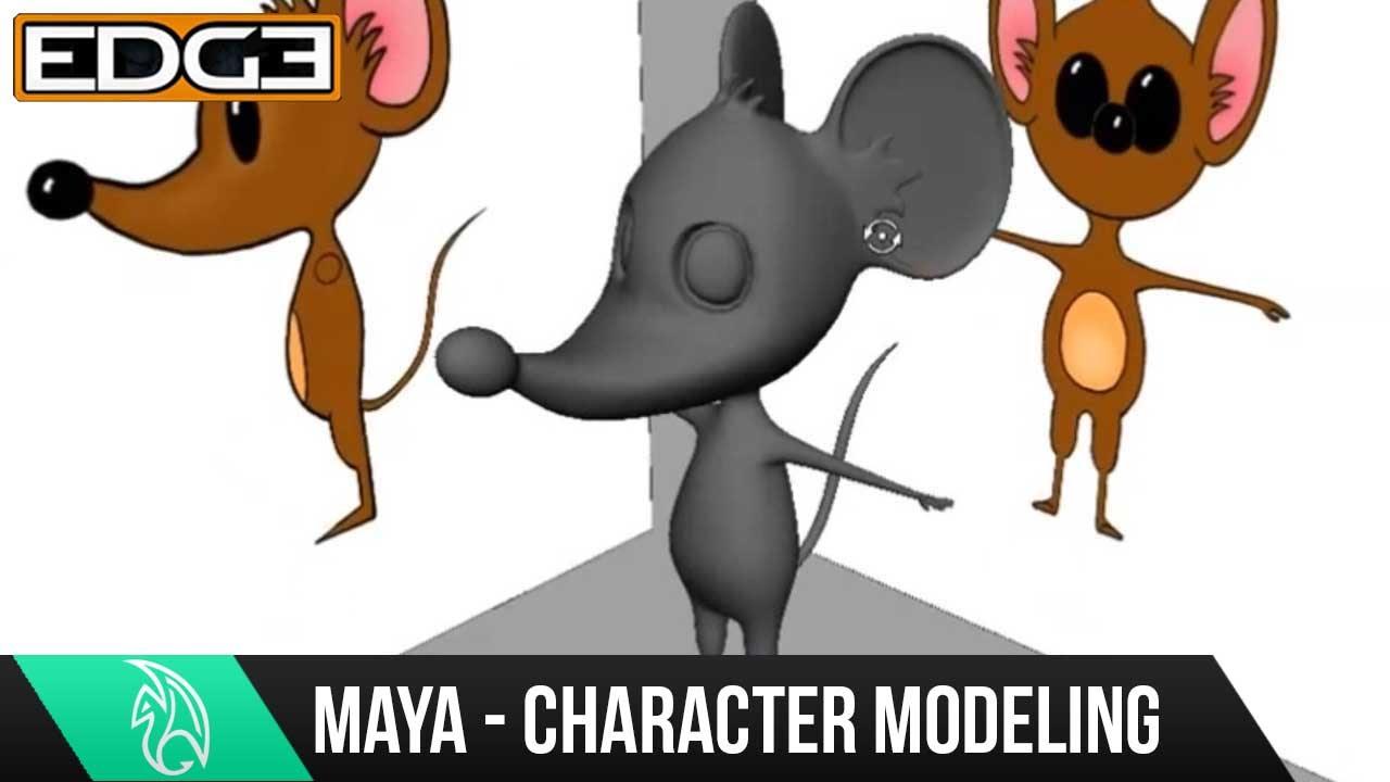 Maya Character Modeling Tutorial - Cartoon Mouse HD #1