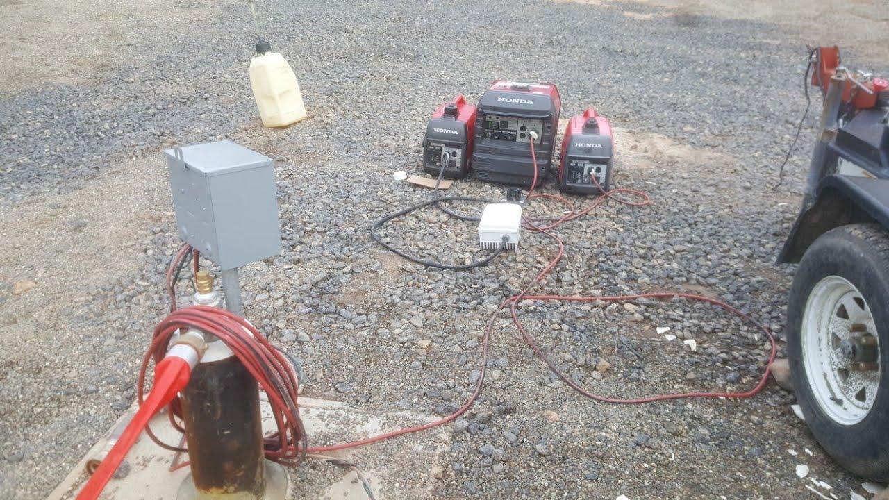 medium resolution of running a well pump on paralelled honda generators