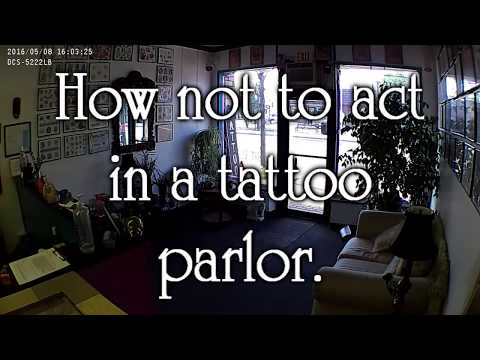 How Not to Act in a Tattoo Parlor (underage piercing)