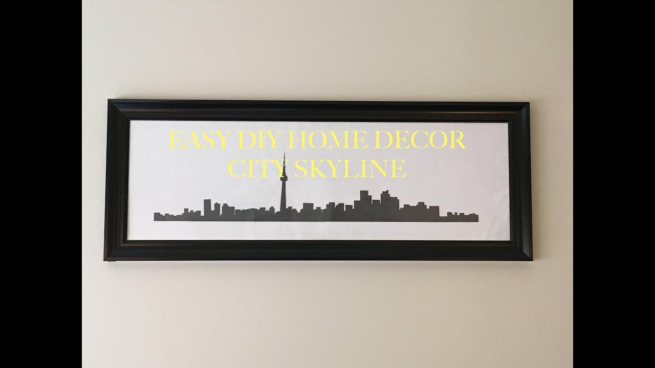 DIY City Skyline Home Decor