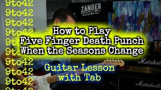 How To Play FFDP When The Seasons Change Guitar Lesson Tutorial