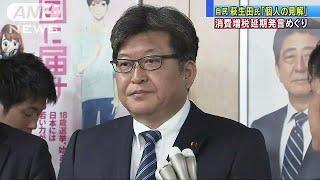 萩生田氏「個人の見解」 消費増税延期発言めぐり(19/04/19)